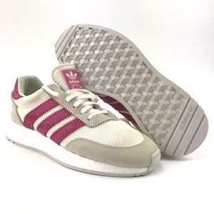 Adidas Womens I-5923 Boost White Shock Pink Shoes